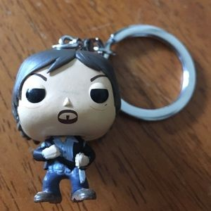 Funko pop keychain daryl from the walking dead